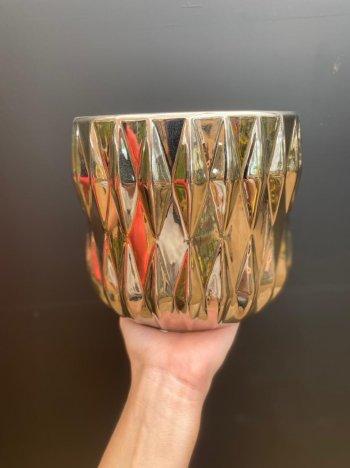 Cachepo ceramica silver