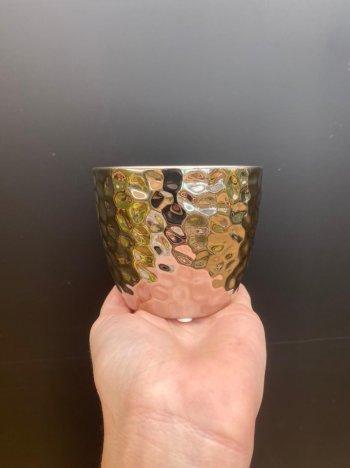 Cachepo decorativo cerâmica silver