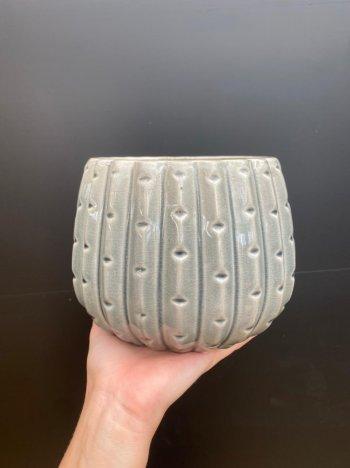 Cachepo cactus cinza