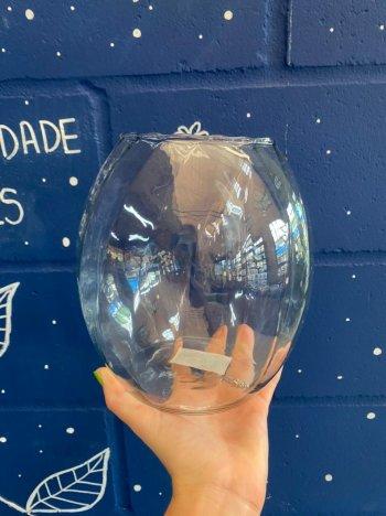 Vaso de vidro barrica