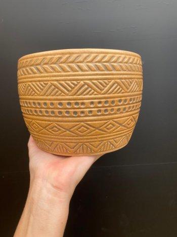 Vaso cerâmica tribal grande