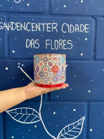 Cachepo decorado português