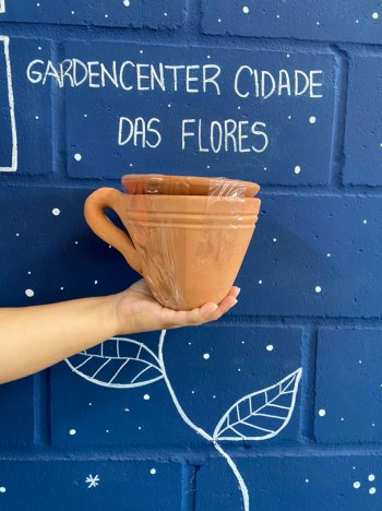 Xicara ceramica  natural